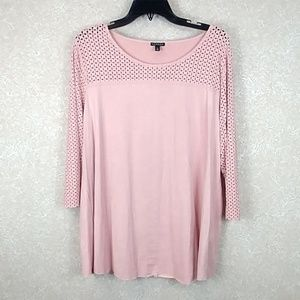 Hannah XL pink suede like top